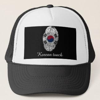 Korean touch fingerprint flag trucker hat