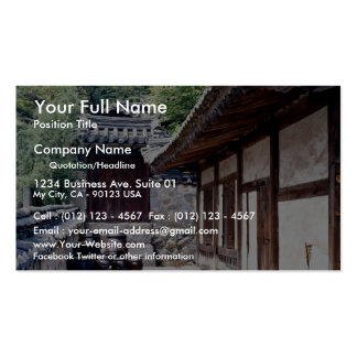 Korean traditional house business card templates