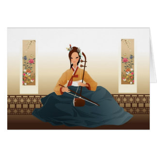 Korean violinist card