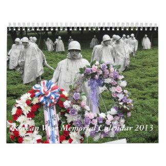 Korean War Memorial Calendar 2013
