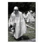 Korean War Memorial veterans Status Postcards