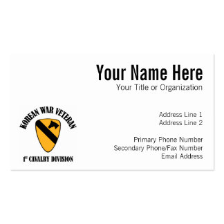 Korean War Veteran - 1st Cav Business Cards