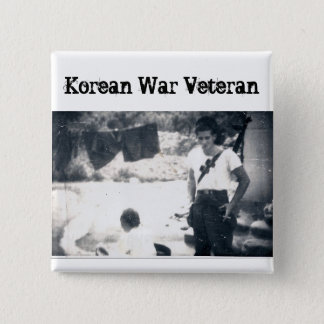 Korean War Veteran Square Button