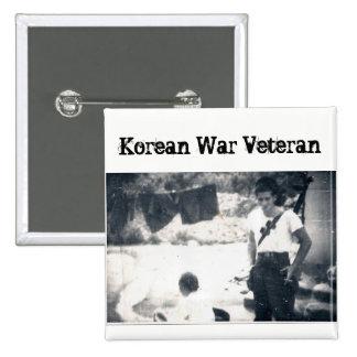 Korean War Veteran Square Button