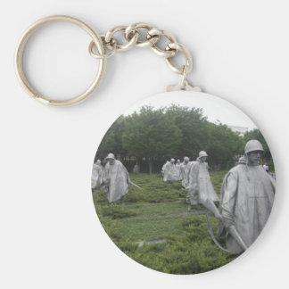 Korean War Veteran's Memorial Basic Round Button Key Ring