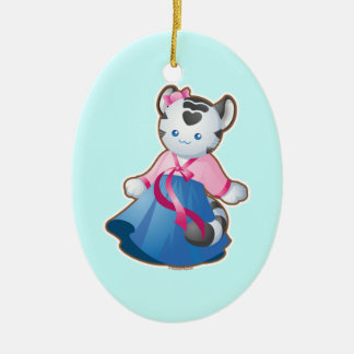 Korean White Tiger Ceramic Ornament