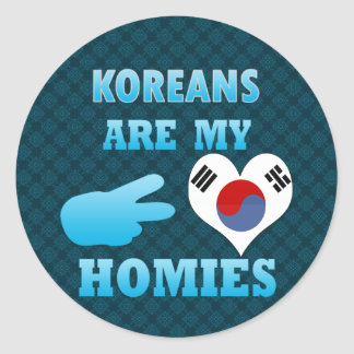 Koreans are my Homies Classic Round Sticker