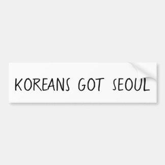 Koreans Got Seoul Bumper Sticker
