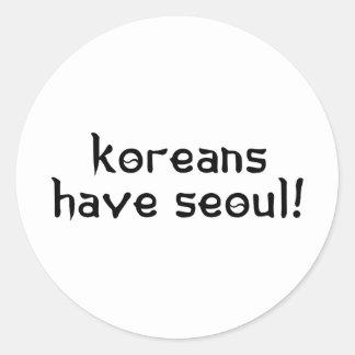 Koreans have Seoul Classic Round Sticker