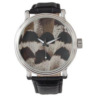 Kori Bustard feather design Watch
