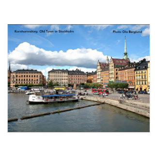 Kornhamnstorg. Old Town in Stock... Postcard