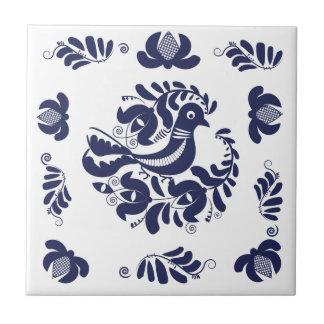 Korondi folk motif ceramic tile