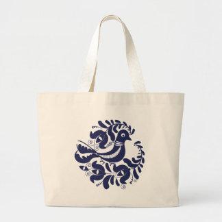 Korondi folk motif large tote bag