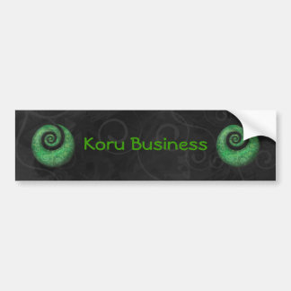 koru business bumper sticker