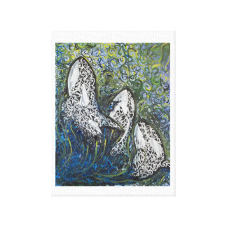 Koru Whales Canvas Print