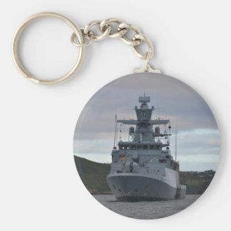 Korvette Braunschweig Anchored in Plymouth Basic Round Button Key Ring