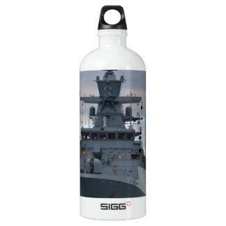 Korvette Braunschweig Anchored in Plymouth Water Bottle