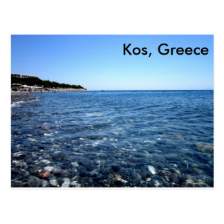 Kos, Greece Beach Scene Postcard