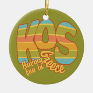 KOS Greece custom ornament