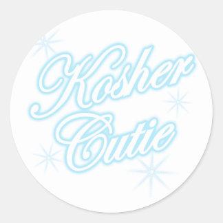 kosher cutie lt blue sticker