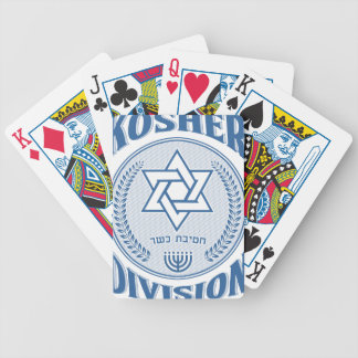Kosher Division Bicycle Playing Cards