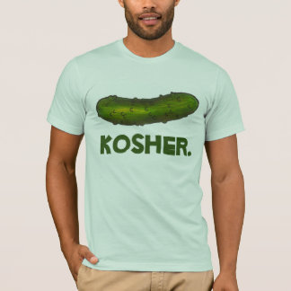 Kosher Green Dill Pickle NYC Jewish Deli Food Tee
