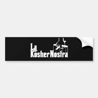 Kosher Nostra Bumper Sticker