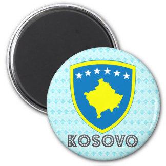 Kosovo Coat of Arms 6 Cm Round Magnet