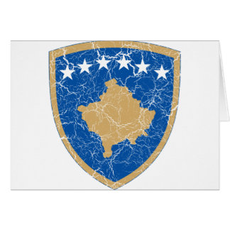 Kosovo Coat Of Arms Card