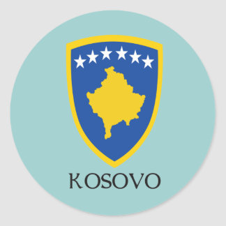 Kosovo Coat of Arms Classic Round Sticker