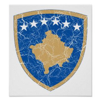 Kosovo Coat Of Arms Poster