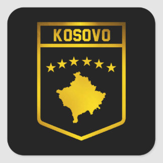 Kosovo Emblem Square Sticker