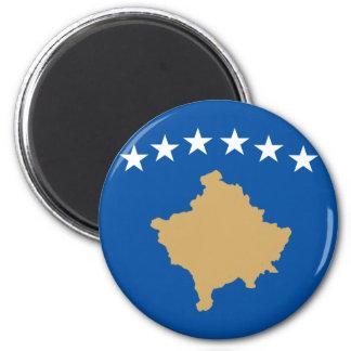Kosovo Flag 6 Cm Round Magnet