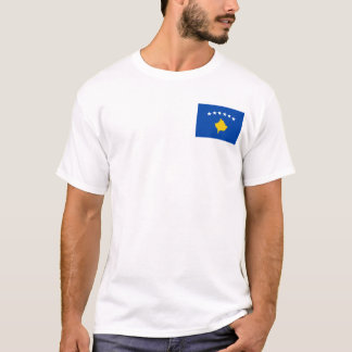 Kosovo Flag and Map T-Shirt