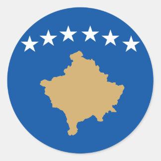 Kosovo Flag Round Sticker