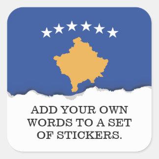 Kosovo Flag Square Sticker