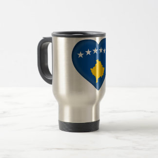 Kosovo Flag Travel Mug