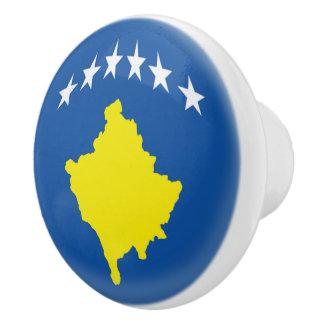 Kosovo Kosovan Flag Ceramic Knob
