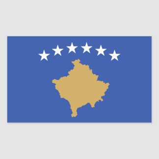 Kosovo/Kosovar Flag Rectangular Sticker