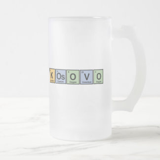 Kosovo made of Elements Frosted Glass Beer Mug