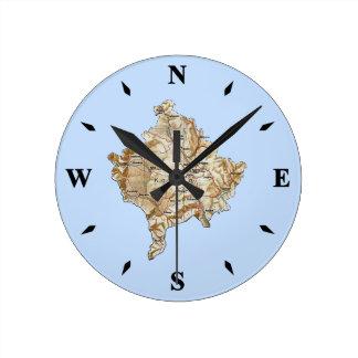 Kosovo Map Clock