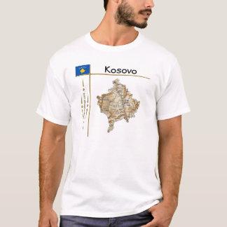Kosovo Map + Flag + Title T-Shirt