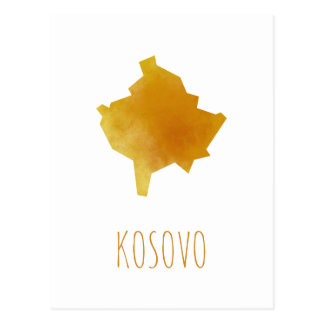 Kosovo Map Postcard
