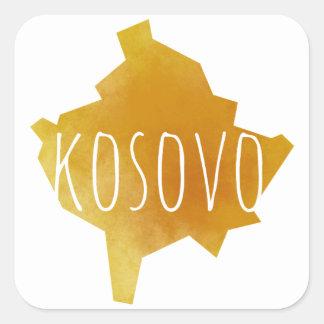 Kosovo Map Square Sticker