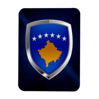 Kosovo Metallic Emblem Rectangular Photo Magnet