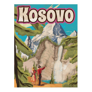 Kosovo Vintage Travel Poster Postcard