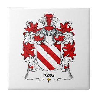 Koss Family Crest Ceramic Tile