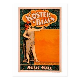 Koster & Bial's Music Hall Near Broadway Postcard