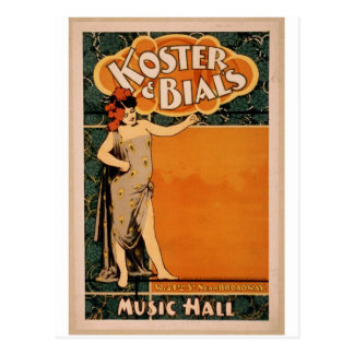 Koster & Bial's, 'Music Hall' Retro Theater Postcard
