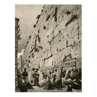Kotel Western Wailing Wall Buraq Jerusalem Vintage Postcard